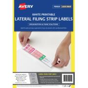 Avery Lateral Filing Labels Printable White Pack 400