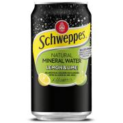 Schweppes Lemon Lime Mineral Water 375ml Can Carton 24