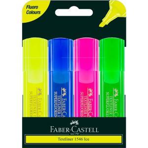 Faber Castell Textliner Ice Highlighter Assorted Wallet 4