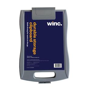 Winc Clipboard Storage Case Black or Grey Assorted