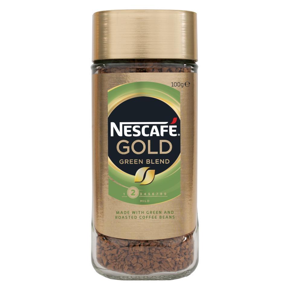 Nescafe Gold Green Blend Instant Coffee Jar 100g