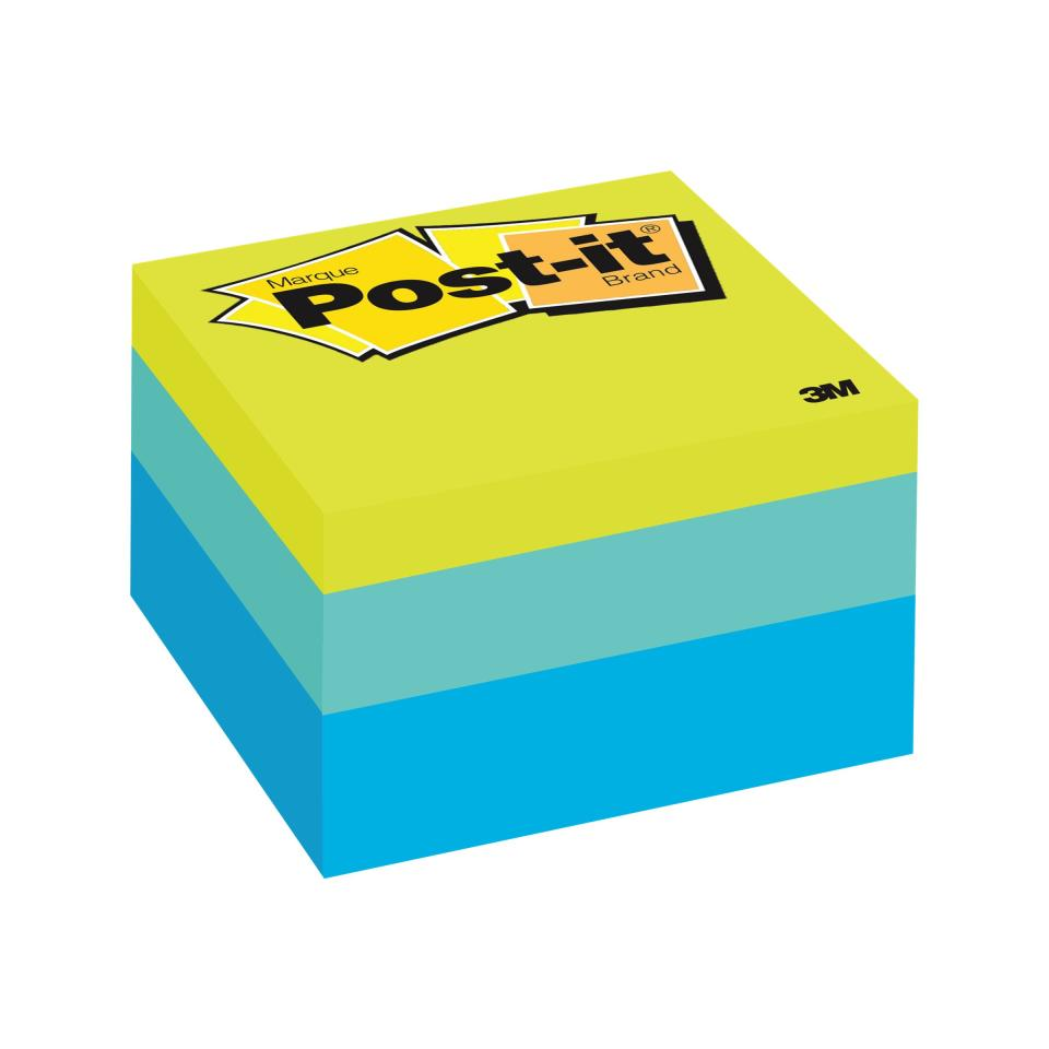 Post-It Notes Cube Blue Wave 76 x 76mm 490 Sheets