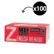 Zoetic Infusions Fairtrade Organic Tea Bags English Breakfast Pack 100