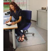 Floortex Chairmat Ultimate Polycarbonate Plush Carpet 1200l x 1340wmm Clear