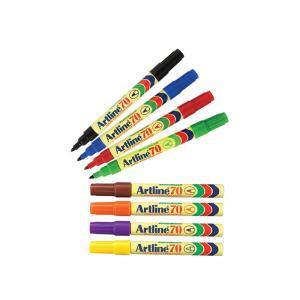 Artline 70 Permanent Marker Bullet Tip 1.5mm Assorted Colours Box 12
