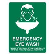 Brady Emergency Eyewash Sign Poly 300X225mm