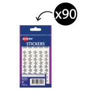 Avery Silver Star Stickers 10mm Diameter Pack 90