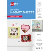 Avery Magnet Sheets 210 x 297mm Inkjet Printer A4 White Pack 3 Sheets