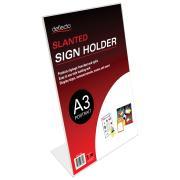 Deflecto A3 Portrait Slanted Menu/Sign Holder