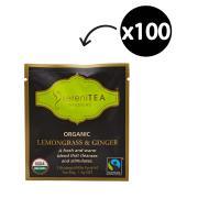 SereniTEA Organic & Fairtrade Lemongrass & Ginger Enveloped Pyramid Tea Bags Pack 100
