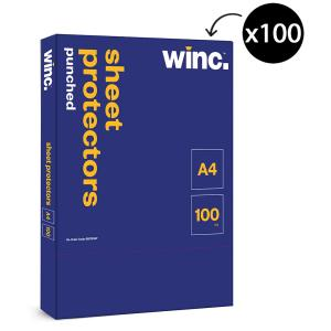 Winc Sheet Protector A4 Punched Box 100