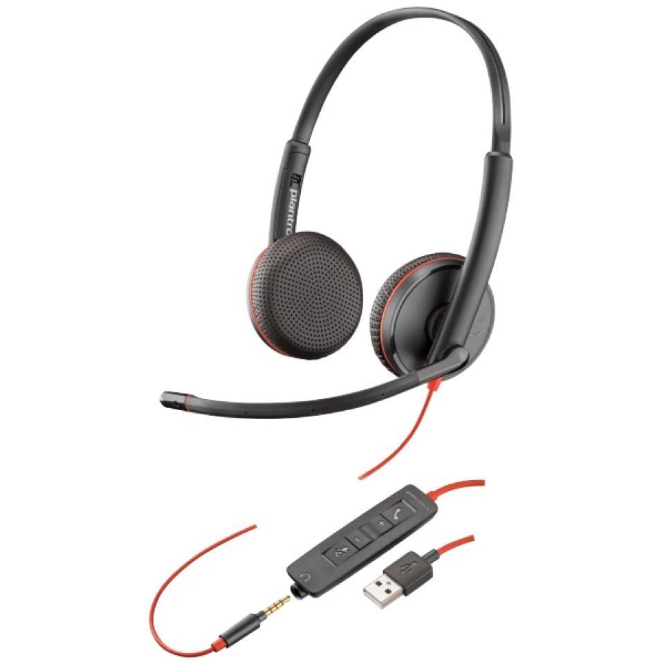 Plantronics C3225 Blackwire Stereo Corded 3.5mm/usb-c Headset