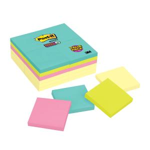 Post-It Super Sticky Notes Miami Collection 76 x 76mm Cabinet Pack 24