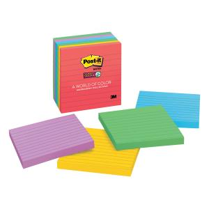 Post-it 675-6SSAN Super Sticky Marrakesh Lined Notes 101 x 101mm 6 Pads