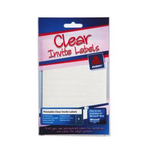 Avery 69080 Clear Invite Lab 76X25.4mm Sheet 175