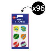 Avery Merit and Reward Stickers Paint Splats 30 mm Diameter Pack 96