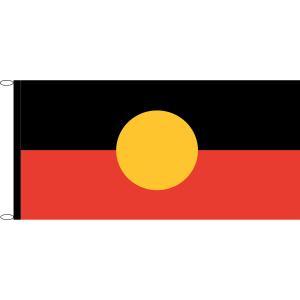 Australian Aboriginal Flag Knitted Polyester 1800x900mm