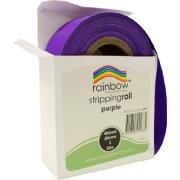 Rainbow Stripping Paper Roll Embossed 50mmx30m Purple
