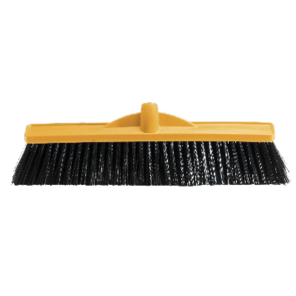 Oates 450mm Medium Stiff Poly Broom Head Only Yellow