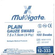 Uneedit Swab Gauze S And N Gs75 7.5X7.5cm Pkt 100
