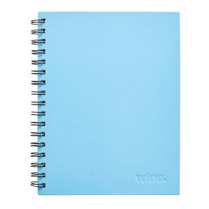 Winc Spiral Hardcover Notebook 225X175mm Ruled 200 Page Light Blue