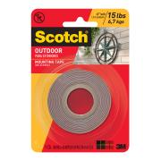 Scotch Permanent Outdoor Mounting Tape 2.5cm x 1.5m Grey