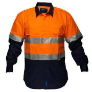 Prime Mover Chnc1001A 100% Cotton Drill Fire Retardant Shirt With Tape