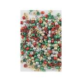 Educational Colours Pony Beads Christmas Pack Pkt 1000