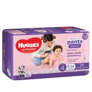 Huggies Ultra Dry Nappy Pants Toddler Girl Pack 29 Carton 4