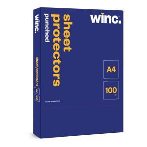 Winc Sheet Protectors Punched A4 Box 100