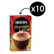 Nescafe Cafe Menu Cappuccino Coffee Sticks 12.5g Box of 10