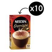 Nescafe Cafe Menu Cappuccino Coffee Sticks 12.5g Box of 10