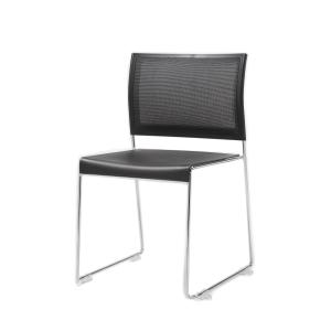 Buro Icon Sled Base Mesh Back Visitor Chair With Silver Chrome Frame