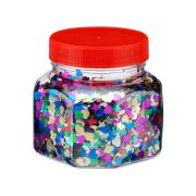 Glitter Scatters Assorted Shapes 100g Jar