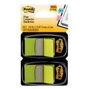 Post-It Flags 25.4 x 43.2mm Bright Green Pack 2