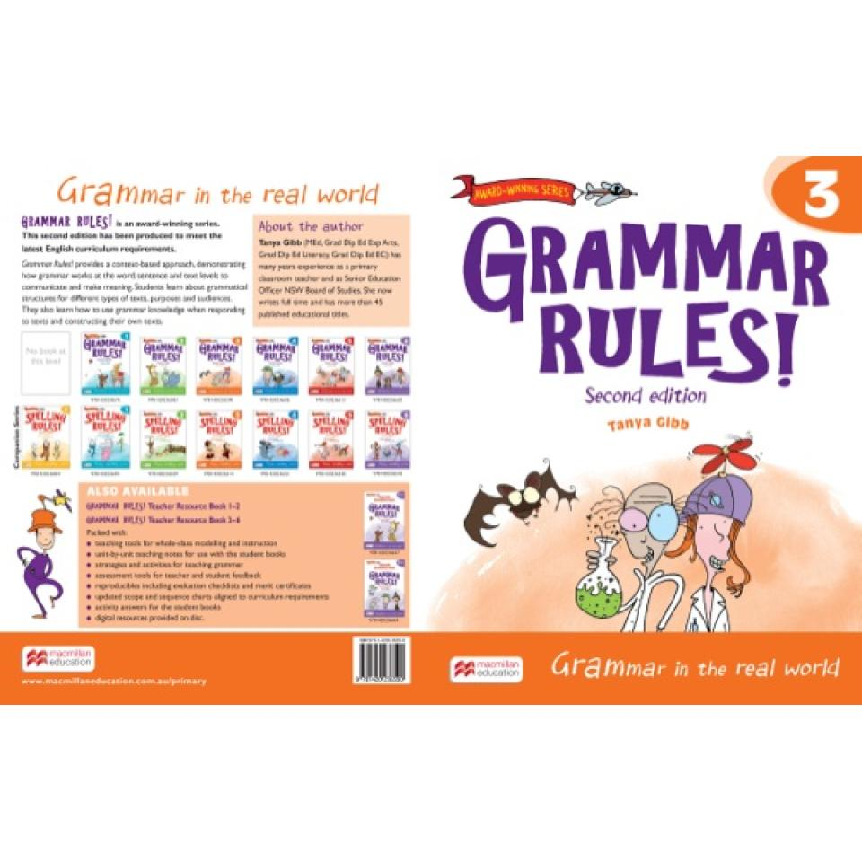 Grammar Rules Student Year 3 2nd Edition. Author Tanya Gibb