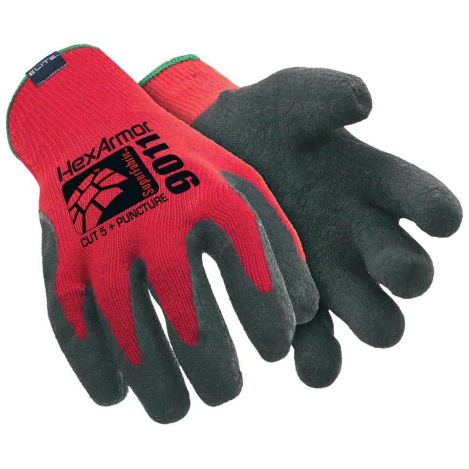 Hexarmor Hex-9011-L Gloves Level 6 Latex Coated Large Pair