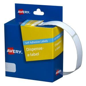 Avery White Rectangular Dispenser Labels - 49 x 13mm - 550 Labels - Hand writable