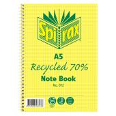 Spirax 812 Recyled Notebook A5 120 Page