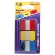 Post-It Tabs Easy Dispenser Assorted Colours 25.4 x 38.1mm Pack 3 66 Tabs