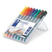 Lumocolour Marker Ohp Permanent Fine Set 8