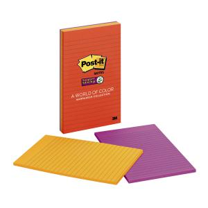 Post-It Super Sticky Recycled Notes Marrakesh Collection 127 X 203mm Pack 4