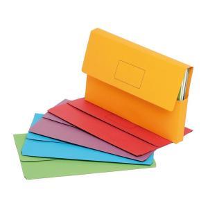 Marbig Slimpick Document Wallet Foolscap Red Pack 10