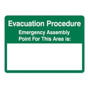 Brady Evacuation Procedure Sign 450mmx300mm