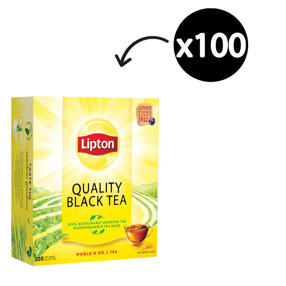 Lipton Black Tea Bags Pack 100