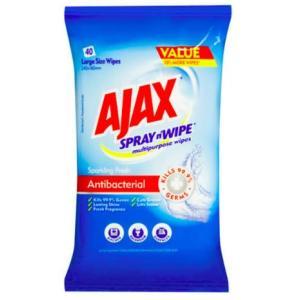 Ajax Spray n Wipe WIPES Antibacterial Softpack 40's