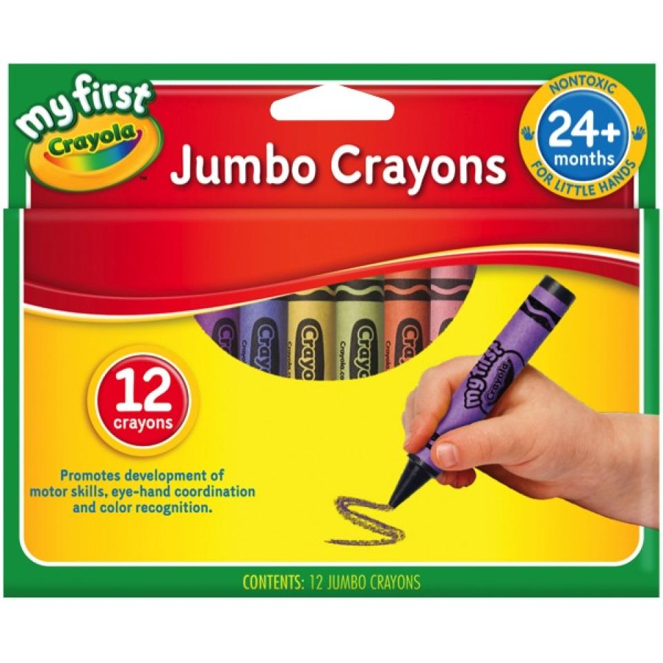 Crayola Crayons My First Jumbo Crayons 101x14mm Pack Of 12