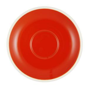 Brew Saucer To Suit Cappuccino Cup 220ml Chilli/White Box 6