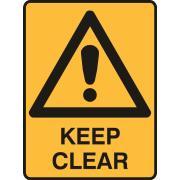 Brady 841651 Sign Keep Clear Polypropylene 225X300mm Each