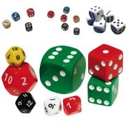 Dice Regular 15mm Dot Face Assorted Colours